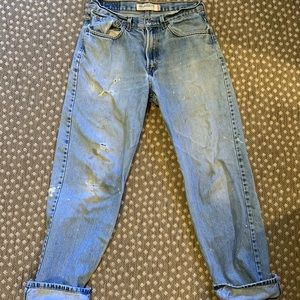 Vintage 505s Levi's 32x32 distressed worn in
